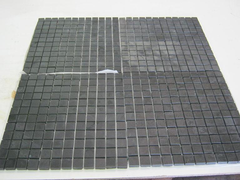 0008-Flora Grace Mat sort mosaik - Glaseret Gulv fliser - UDSOLGT
