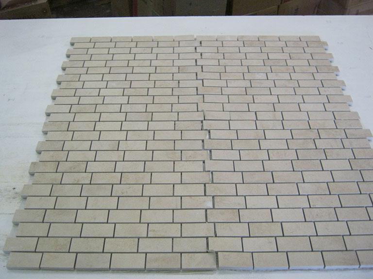 0011 Lys tegl mosaik Vægfliser - 32,5x30cm - (5x2,5cm) 8 m² - Kr.100/m²