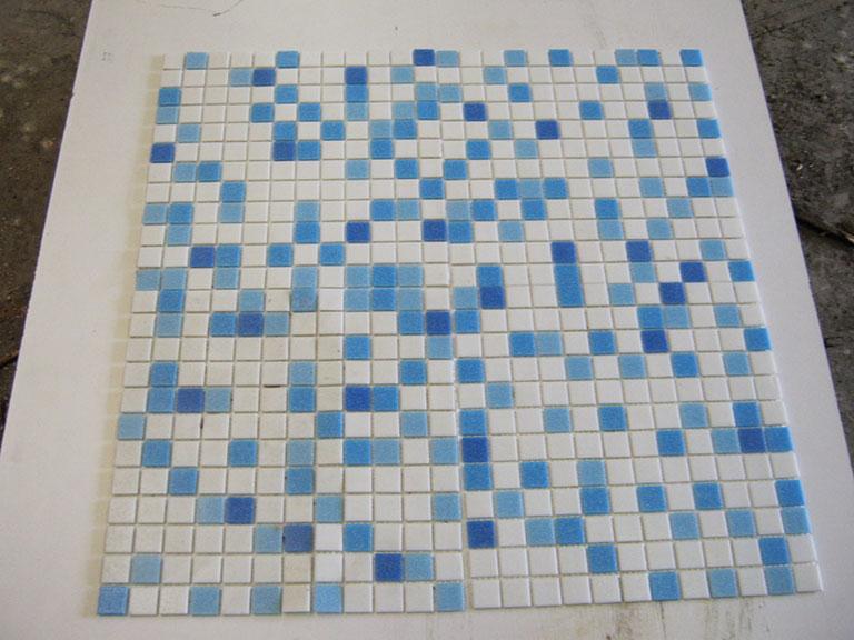 0028 Glas mosaik skift Blå nuancer 340 m²