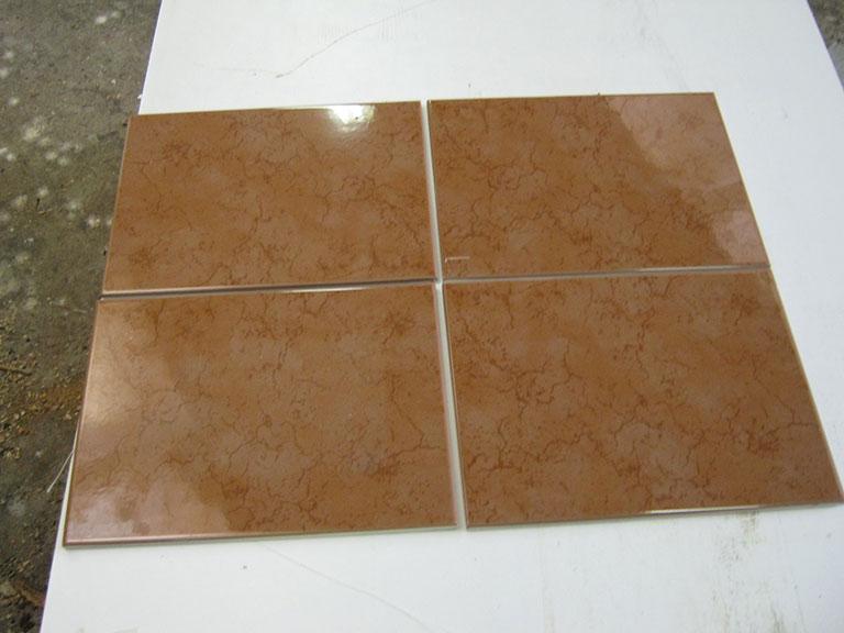 0041-Sphinx Blank brun meleret Vægflise - 25x33cm 66 m²- Kr.75/m²