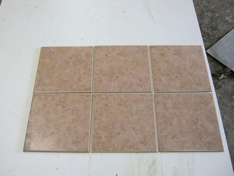 0042-Sphinx Brun meleret Gulvflise - 20x20cm 20 m2 - Kr.75/m²