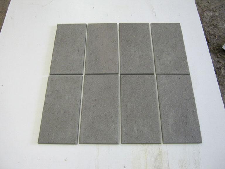 0044-Flore Gres Grå mat Gul/væg flise - 25x12,5cm 40 m² - Kr.50/m²