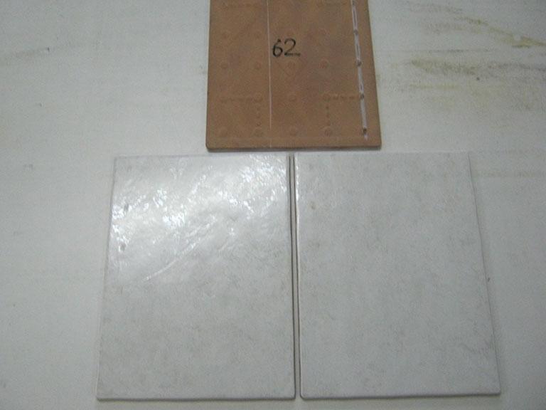 0062-Santiago Hvid meleret Vægflise - 25x33cm 13 m²