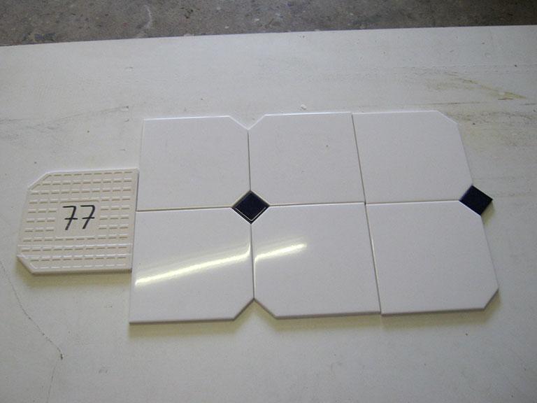 0077-Wandtegels Hvid Vægflise - UDSOLGT