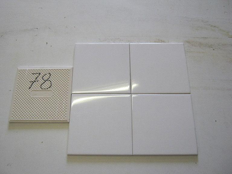 0078-Wandtegels Hvid Vægflise - 15x15cm 150 m² - Kr.30/m²