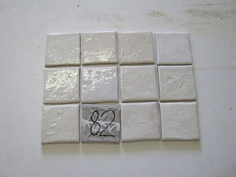 0082-Wandtegels Hvid Vægflise - 15x15cm 150 m² - Kr.30/m²