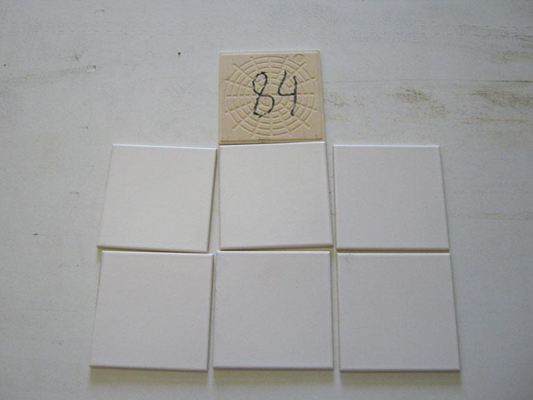 0084-Wandtegels Hvid Vægflise - 15x15cm 150 m² - Kr.30/m²