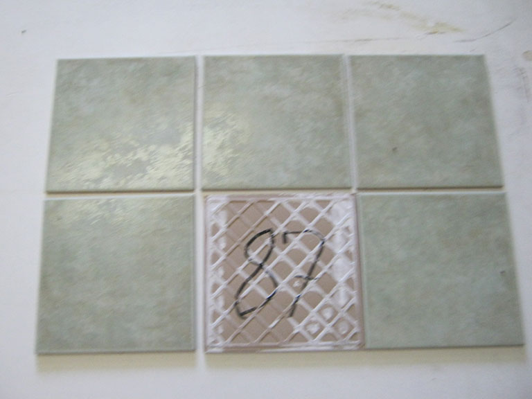 0087-Walverde Blank mat grøn meleret Gulvflise - 20x20cm 80 m² - Kr.50/m²