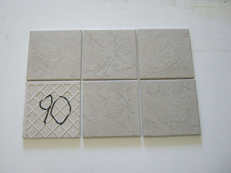 0090-Mafazzi Lys grå relief Gulv/væg flise - 15x15cm 7 m² - Kr.500 i alt