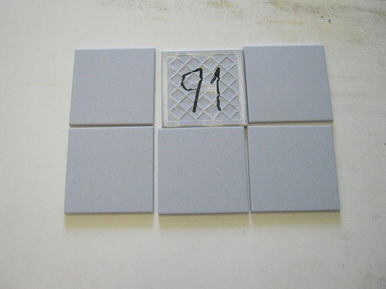 0091-Willeroy og Boch Mat blå nisteret Stærk gulv-flise - 15x15cm 6 m² - Kr.500 i alt