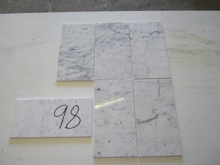 0098 Blank lys marmor Vægflise - 15x30cm 43 m² - Kr.100/m²