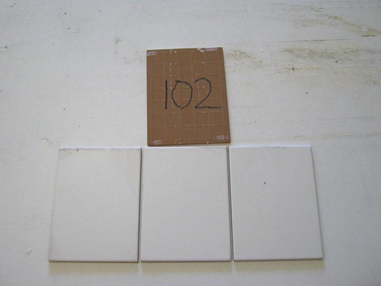 0102-Monocalibro Mat hvid Gulvflise - 15x20cm 64 m² - Kr.50/m²