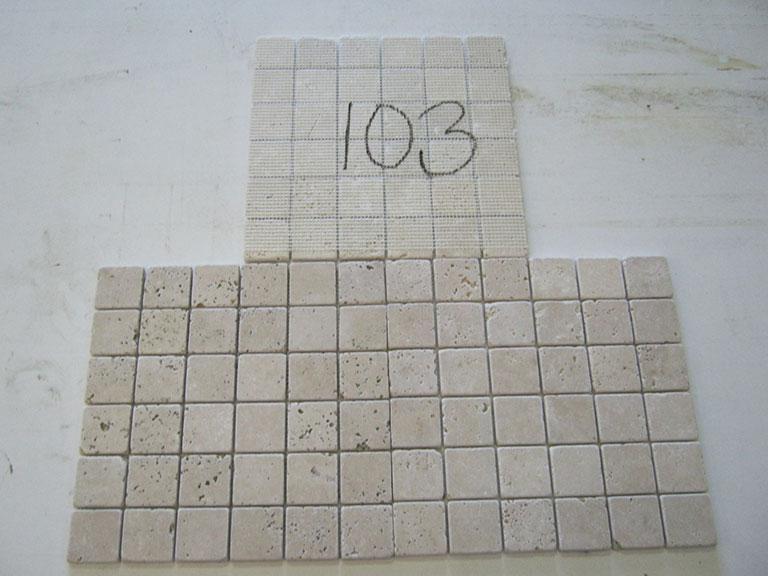 0103 Mosaik - Porøs rustik Gulvflise - 30x30cm (4,5x4,5x0,8cm) 3 m² - Kr.200 i alt