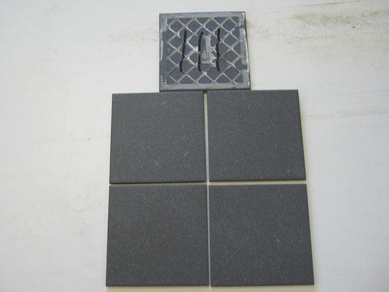 0111-Vileroy og Boch Mat sort Væg flise - 15x15cm 18 m² - Kr.75/m²