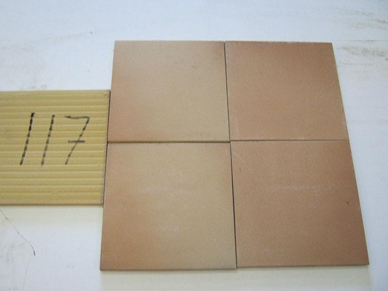 0117-Korzillius Rødbrun teglfarve Gulv flise - 24x24cm 7 m² - Kr.1500 i alt