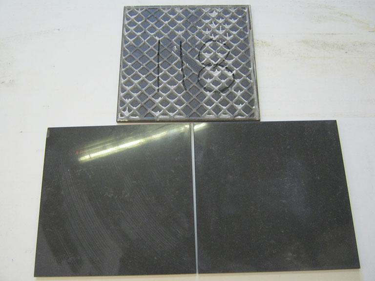 0118-Fine Gres Blank sort marmorlignende Gulv flise - 30x30cm
