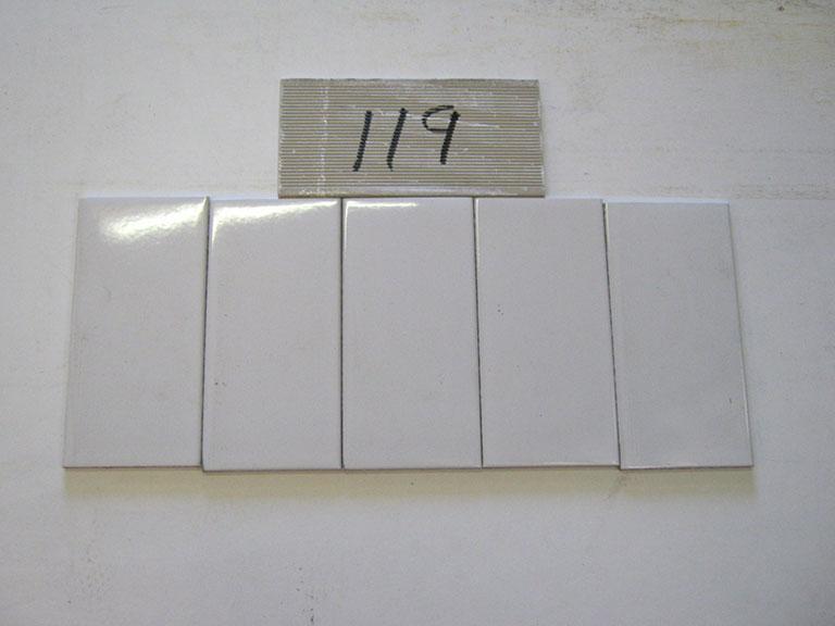 0119-Agrov Blank gråhvid Væg flise - 10x20cm 10 m² - Kr.600 i alt