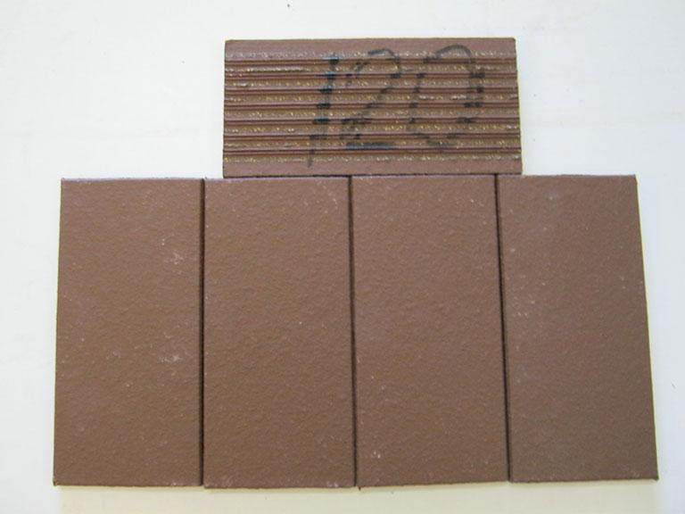 0120-Org. Högernäs Mørk brun Gulvklinker- UDSOLGT