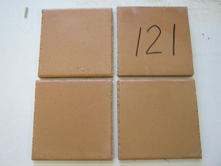 0121-Balbosc Dankar Rød tegl Rustik - Stærk gulv tegl - 20x20x2cm 9 m² - Kr.100/m²