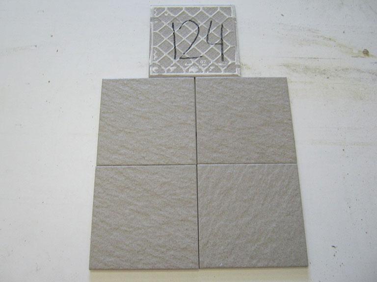 0124-Flaviker pl.sa. Grå nupret Gulv flise - 20x20cm 20 m² - Kr.75/ m²