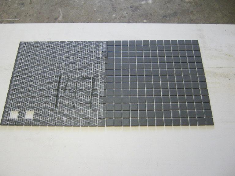 0147 Grå mosaik Gulv flise - 35x35cm (2,5x2,5cm) 7 m² - Kr.500 i alt