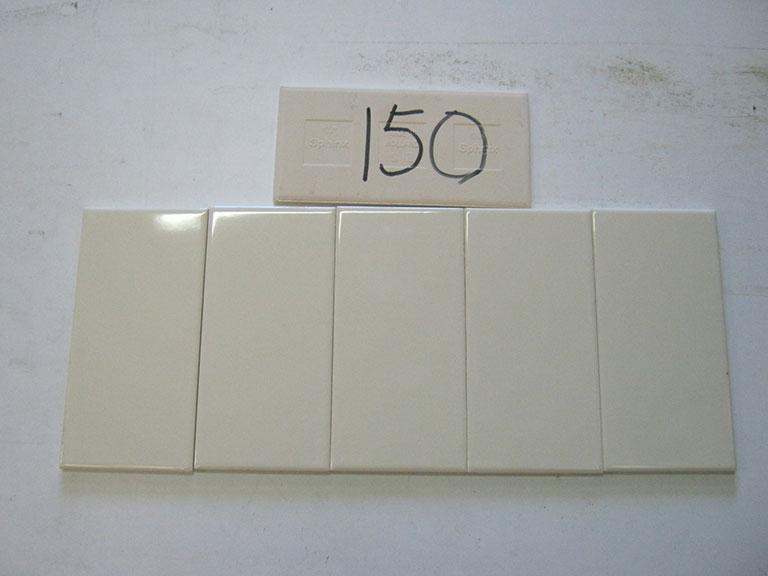 0150-Sphinx Flødefarvet blank Væg flise - 10x20cm 16 m² - Kr.100/ m²