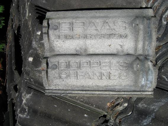 0007 Bras B og C Dobbelt S Sort besandet Beton Tagsten