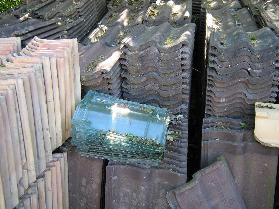 0017 Brass B og CDobbelt S Sort Besandet Beton Tagsten